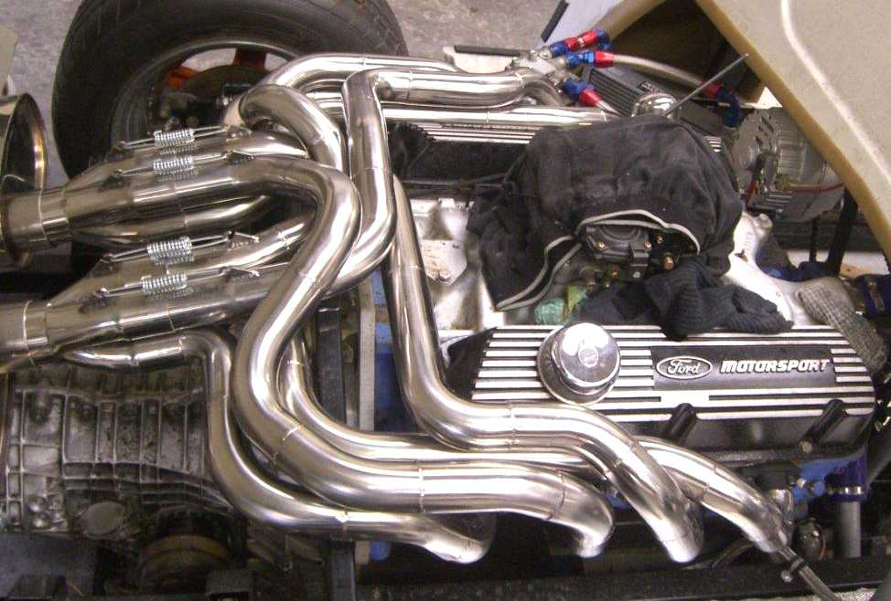Fig. 16. Some More Interesting Pipework from J.P Exhausts. Ultima V8 & Aston Martin V8.