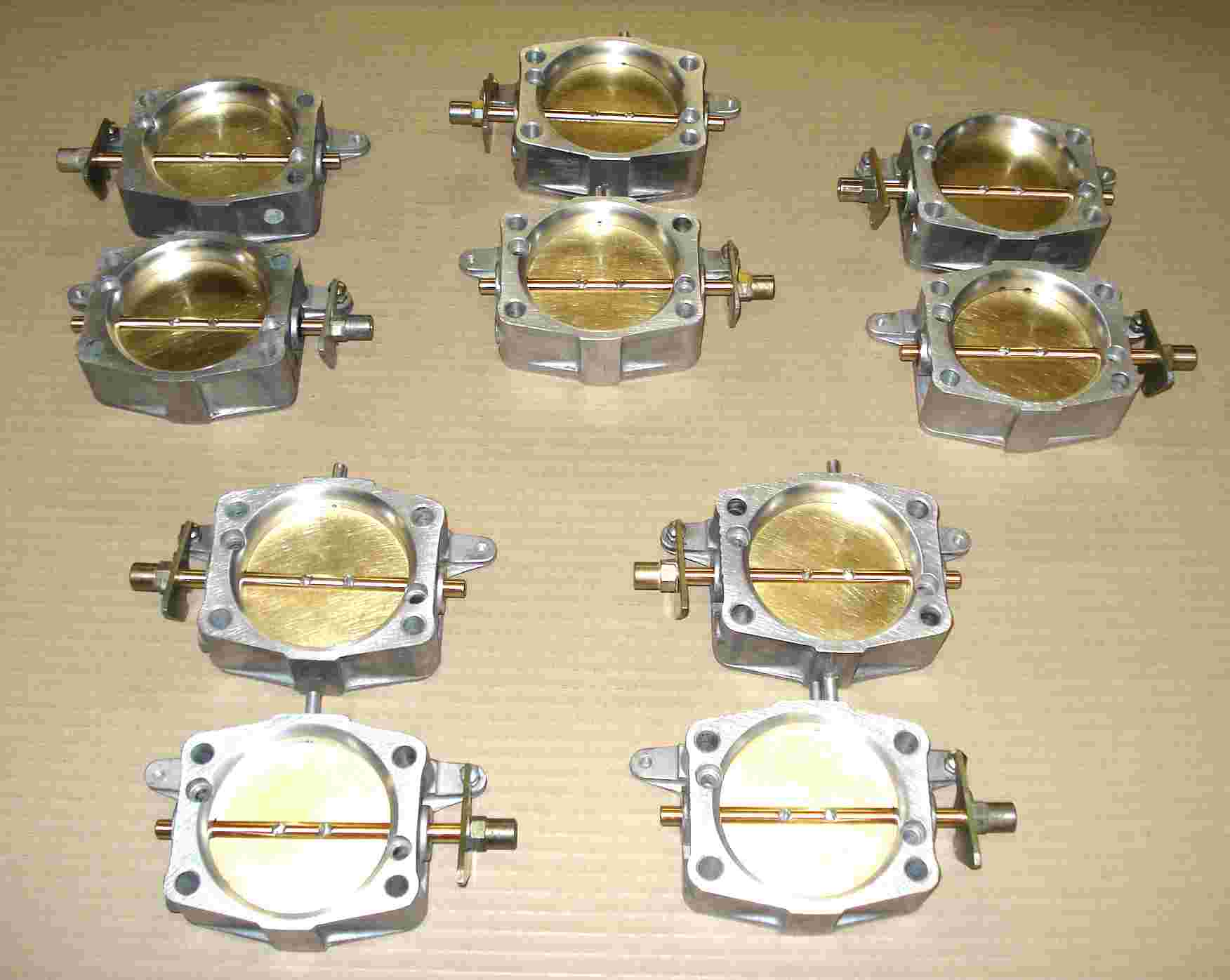 Fig. 3. Five pairs of V12 Large Throttles.
