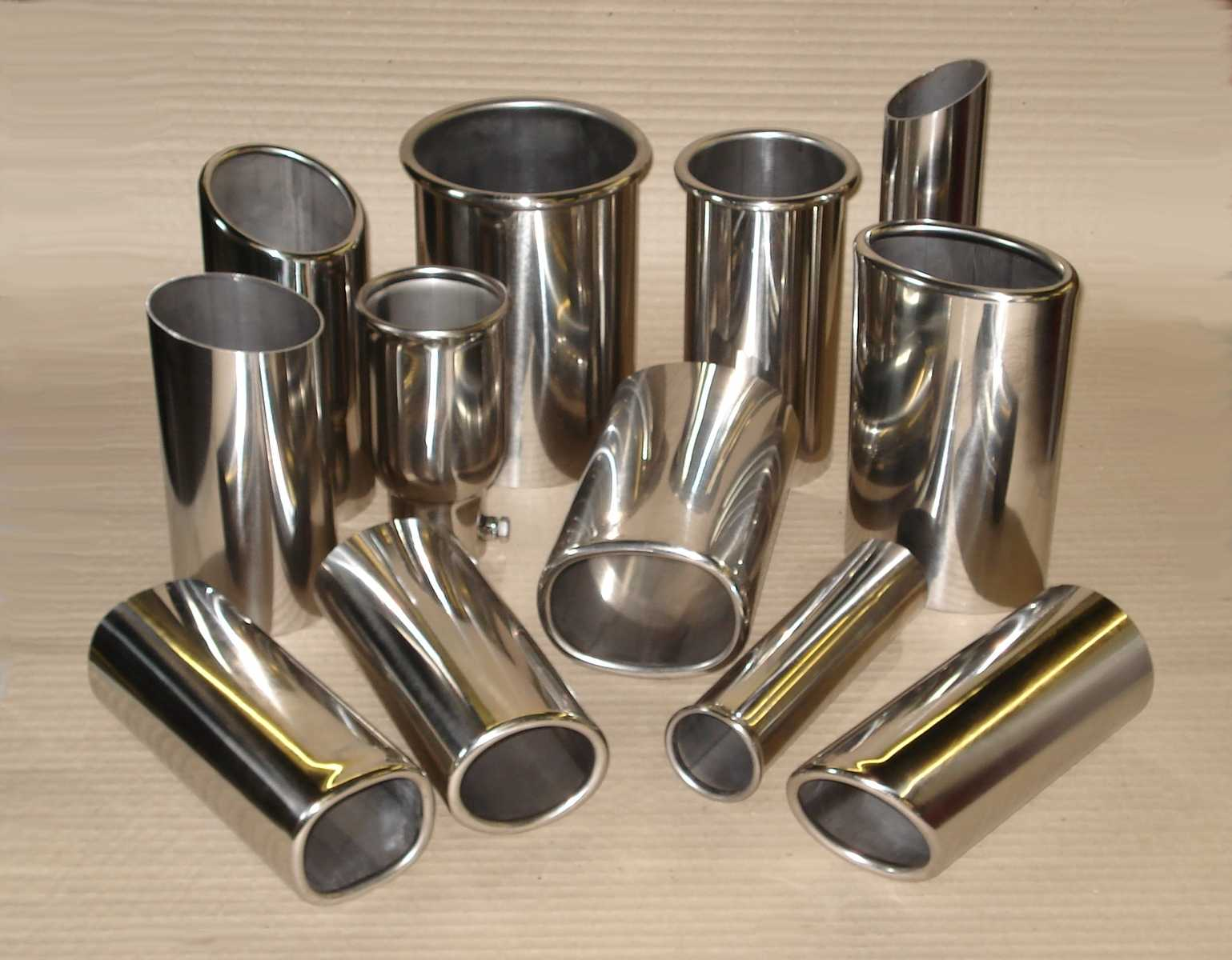 A selection of tail pipes