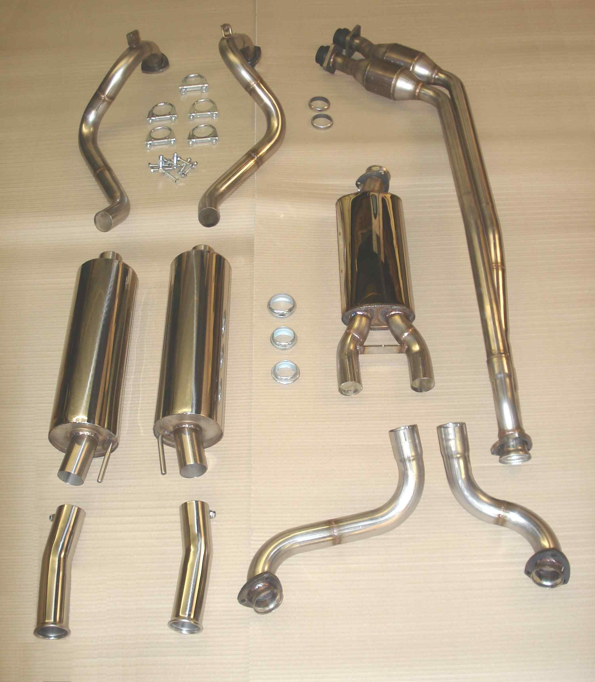4.0 TT complete system with downpipe catalysts.